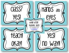 3rd Grade Thoughts: Whole Brain Teaching Classroom Signs