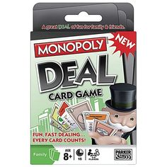We love the Monopoly Deal card game for travel and at home. Makes a perfect stocking stuffer. {affiliate}