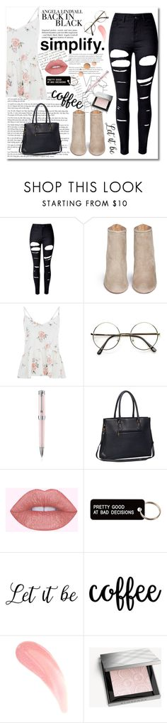 """Impressions"" by jessicahvh ❤ liked on Polyvore featuring WithChic, Aquazzura, H&M, Montegrappa, Various Projects, Burberry and CC"