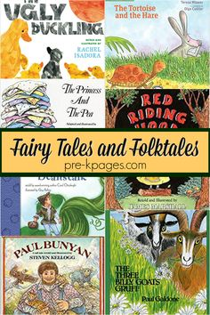 Preschool Books with Fairy Tales and Folktales - Pre-K Pages Preschool Literacy, Preschool Books, Preschool Themes, Kindergarten Classroom, Fairy Tales Unit, Fairy Tales For Kids, List Of Fairy Tales, Traditional Tales, Traditional Stories
