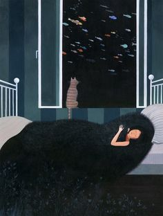 Original illustration by Claire de Gastold - Le rêve | Oeuvres | Robillard Gallery