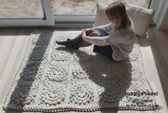 Welcome to madeinPoland! Welcome and please see all our products. The perfect touch to your home space. All the products are high quality.  Descriprions: Model: Secret Garden  Material: This crochet rug is 100% handmade from cotton cord 5 mm.  Dimensions: 160CMX130CM, 63 in x 51 in.  Care instructions: dry cleaning, hand washing or machine wash cold.  Individual orders: It can be made in any colour, different materials, pattern, size - feel free to message us, we would love to custom make…