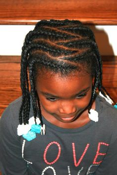 BEAUTIFUL cornrows by The Fro Show (Facebook.com/TheFroShow) using white and turquoise Sweet Pea GaBBY Bows!