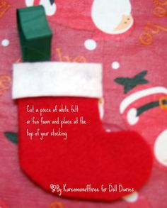 No Sew Christmas Stocking