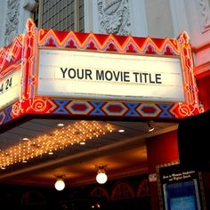 Movie Theater Marquee
