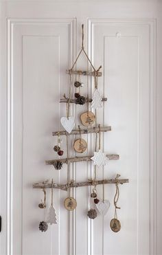 Hanging tree made of twigs