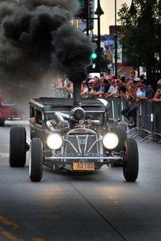 Model T Smoker, the anti-Prius. Who's rollin coal now. Classic Hot Rod, Classic Cars, Automobile, Sweet Cars, Us Cars, Modified Cars, Kustom, Drag Racing, Custom Cars