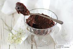 Brownie rápido en microondas