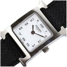 fbc8b7f00f4 Hermes Heure H Stainless Steel   Leather Quartz Womens Watch