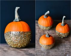 DIY glitter pumpkins halloween _ glitterinc.com #thanksgiving #halloween