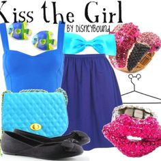 Disneybound:)  Kiss the girl.