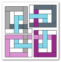 Quilt Block Tutorial: Interlocking Seasons « The Parfait Cafe Quilting Tips, Quilting Tutorials, Quilting Projects, Quilting Designs, Quilt Block Patterns, Pattern Blocks, Quilt Blocks, Celtic Quilt, Patch Quilt