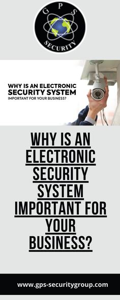 Why is electronic security important? What is an electronic security system? Electronic Security Systems, Security Companies, Electronics, Business, Store, Business Illustration, Consumer Electronics