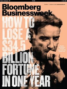 Bloomberg Businessweek (US) - I love covers that use large type. Type that sometimes intrudes on the art. The art, in this case, is also awesome. The rough style sells the design. There's an element of anarchy which conveys a small level of anxiety to the illustration. Good stuff.