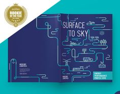 """Check out this @Behance project: """"Surface to Sky - Annual Report"""" https://www.behance.net/gallery/48409337/Surface-to-Sky-Annual-Report"""