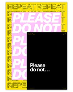 Poster number 110… Please do not repeat.