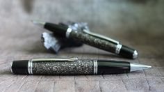 The METEORITE Pen, kickstarter, ballpoint pen, moon dust, certificate of authenticity, NASA, apollo, gemini, mercury, handcrafted, campo del cielo, buzz aldrin, neil armstrong, touchofmodern, montblanc