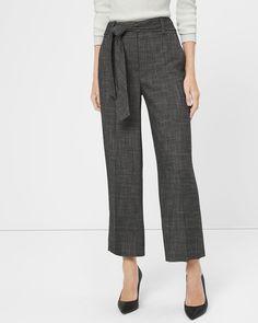Novelty Wide-Leg Crop Pants