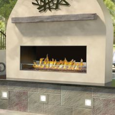 Napoleon GSS48 Galaxy Outdoor Linear Gas Fireplace | WoodlandDirect.com: Outdoor Fireplaces: Fireplace Units - Gas #LearnShopEnjoy