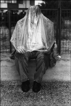 Nikos Economopoulos - A sudden rain - Agia Eleni village, Macedonia, Greece, 1995 White Photography, Street Photography, World Best Photographer, Sensory Deprivation, Hidden Face, Famous Photographers, Magnum Photos, Photography Projects, Black N White