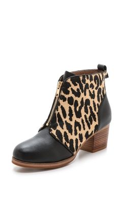 Yosi Samra Lafayette Ponyhair Booties in Natural Wildcat Fall Winter Shoes, Fall Shoes, Bootie Boots, Shoe Boots, Ankle Boots, Wear You Out, Yosi Samra, Leopard Fashion, Kinds Of Shoes