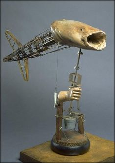 Steam punk, taxidermy, and creepy doll arms? I need to marry whoever made this.