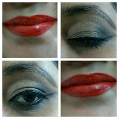 Smokey eyes and red lips!!