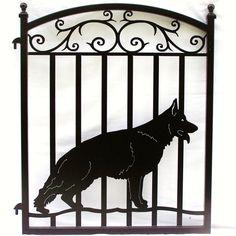 German Shepherd Ornamental Iron Dog Gate. $299.00, via Etsy.
