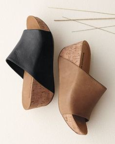 Chocolat Blu Manny platform sandals with cork wedge, from Garnet Hill