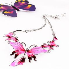Fashion Petrol Dripping and Drill Butterfly Design Jewelry Set Exaggeration Women Ladies Earrings