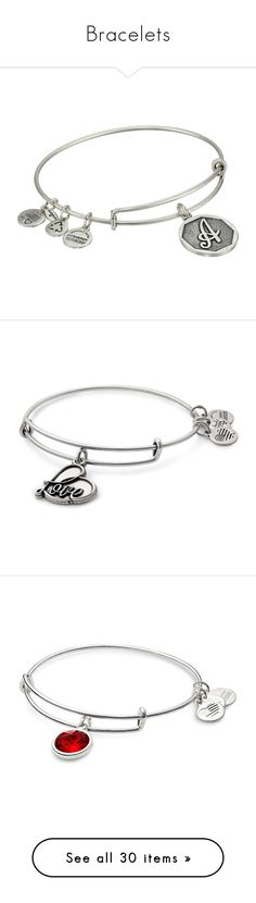 """Bracelets"" by soontobeforeveralone on Polyvore featuring jewelry, bracelets, silver charm bangle, bangle bracelet, silver bangles, adjustable bangle bracelet, bangle bracelet charms, silver, alex and ani bangles and expandable bangles"