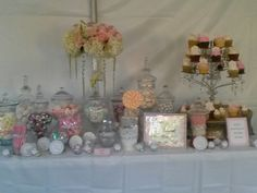 bridal shower dessert candy buffet