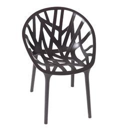 Vegetal Chair- black by Ronan & Erwan Bouroullec