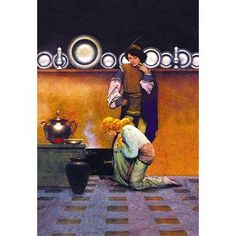 Buyenlarge 'Checking the Tarts' by Maxfield Parrish Vintage Advertisement