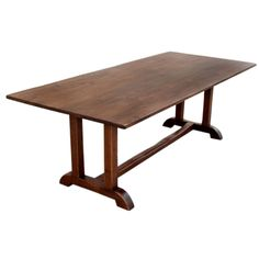 Vintage Black Walnut Custom Built Dining Table | From a unique collection of antique and modern dining room tables at https://www.1stdibs.com/furniture/tables/dining-room-tables/
