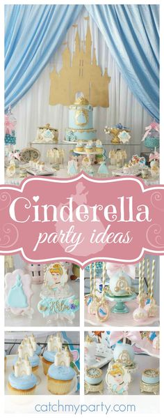 Take a look at this gorgeous Cinderella birthday party. The vintage inspired cake pops are amazing!! See more party ideas and share yours at CatchMyParty.com