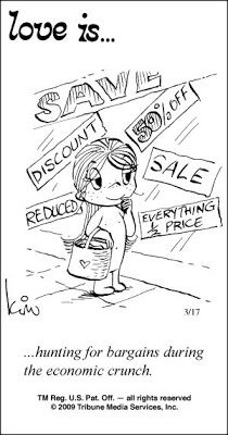 ... hunting for bargains during the economic crunch.