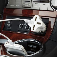 Turn any car outlet into a USB charging station with our 4-Port USB Car Charger!