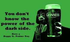 Darth Vader has St Patrick's day Guinness St Patricks Day Meme, St Patricks Day Pictures, Happy St Patricks Day, Saint Patricks, Funny Meme Pictures, Funny Memes, Starwars, Dark Vader, Film Science Fiction