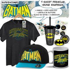 Super Combo Masculina Batman Gotham Logo #Batman #Gotham #DCComics #LojaDCComics #bandUPStore #Batman75 #Gotham