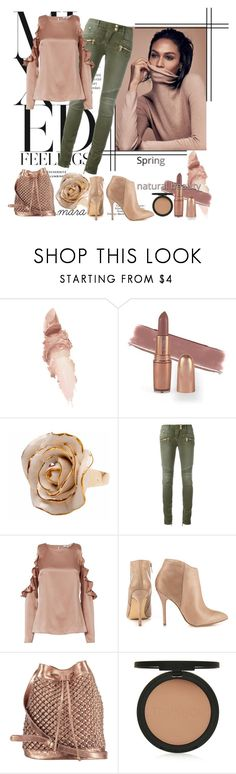 """Natural Beauty... :-)"" by marastyle ❤ liked on Polyvore featuring Maybelline, Hop Skip & Flutter, Balmain, Cushnie Et Ochs, Steve Madden, nooki design and Topshop"