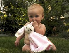 Bunny Blanket.  Pattern and sewing instructions for bunny head plus crochet tutorial for the scalloped edge on the blanket.