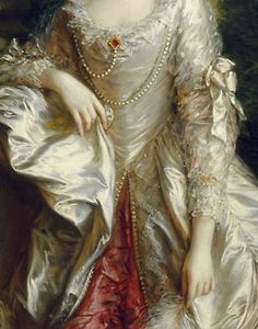 jaded-mandarin:  The Honourable Mrs. Graham - Thomas Gainsborough. Detail.