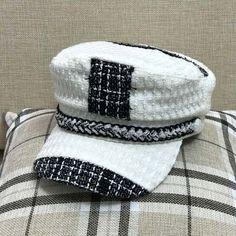 Black and white baker boy hat womens winter greek sailor hat autumn wear Greek Fisherman Hat, Fisherman's Hat, Baker Boy, Black And White Colour, Hats For Women, Headpiece, Wool Blend, Sailor, Winter Hats