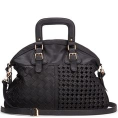 Fashionable black bag.