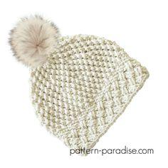 Crochet Pattern for celtic weave slouch beanie hat by pattern-paradise.com. #crochet #christmas #hat #slouch #patternparadisecrochet #celtic