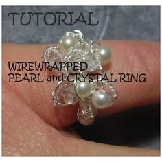Jewelry Tutorial Ring  Pearl Wire Wrap Ring  by JewelryonPicadilly, $3.50