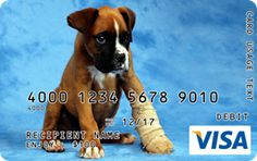 Get Well Puppy Visa Gift Card Custom Gift Cards, Visa Gift Card, Get Well, Puppies, Gifts, Cubs, Presents, Favors, Pup