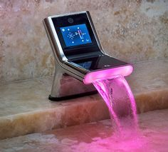 Touch Screen Faucet to access email