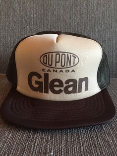 89ab3ff71c0 Vtg DuPont Canada Glean Trucker Hat Mesh Snap Back… - US Trailer will lease  used